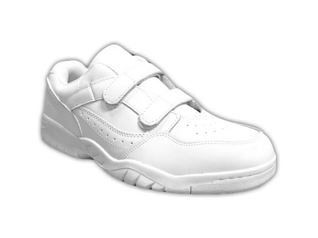 SWS Group Inc. - White Leather Trainer - Double Velcro - 4E Width